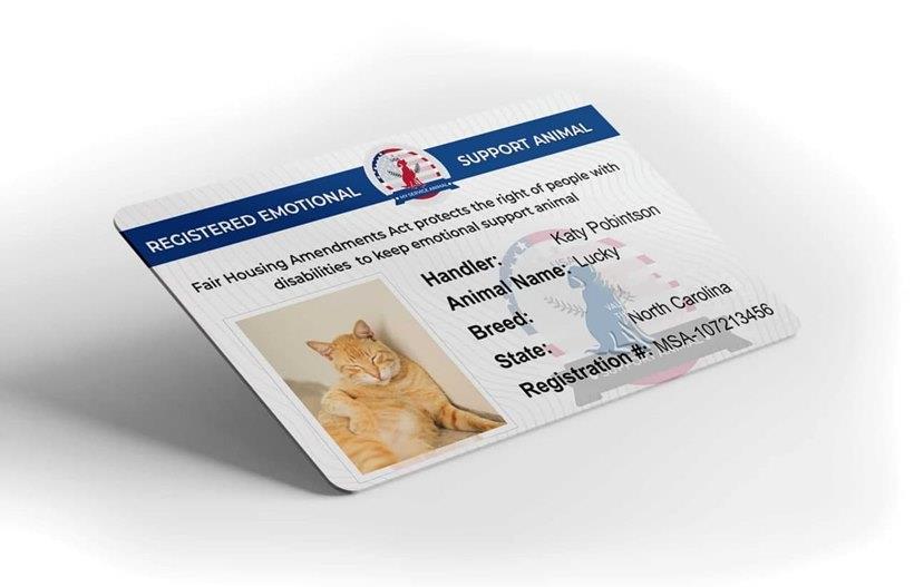 ESA Cat ID card